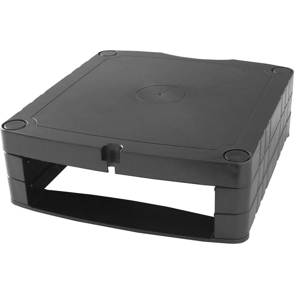 Image of Lorell Adjustable Monitor Riser - Black