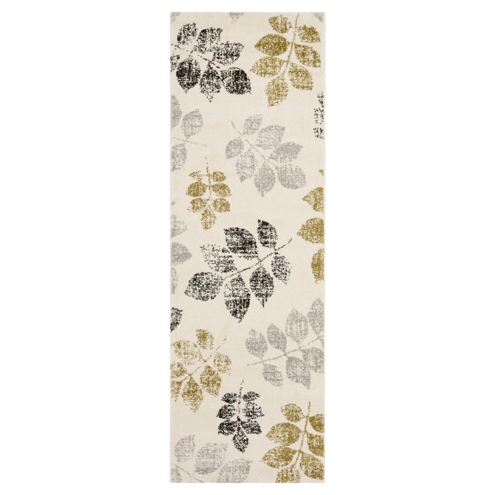Botanical Runner - Ivory / Green (2'4