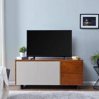 Midhurst Storage TV Stand Brown/White - Holly & Martin