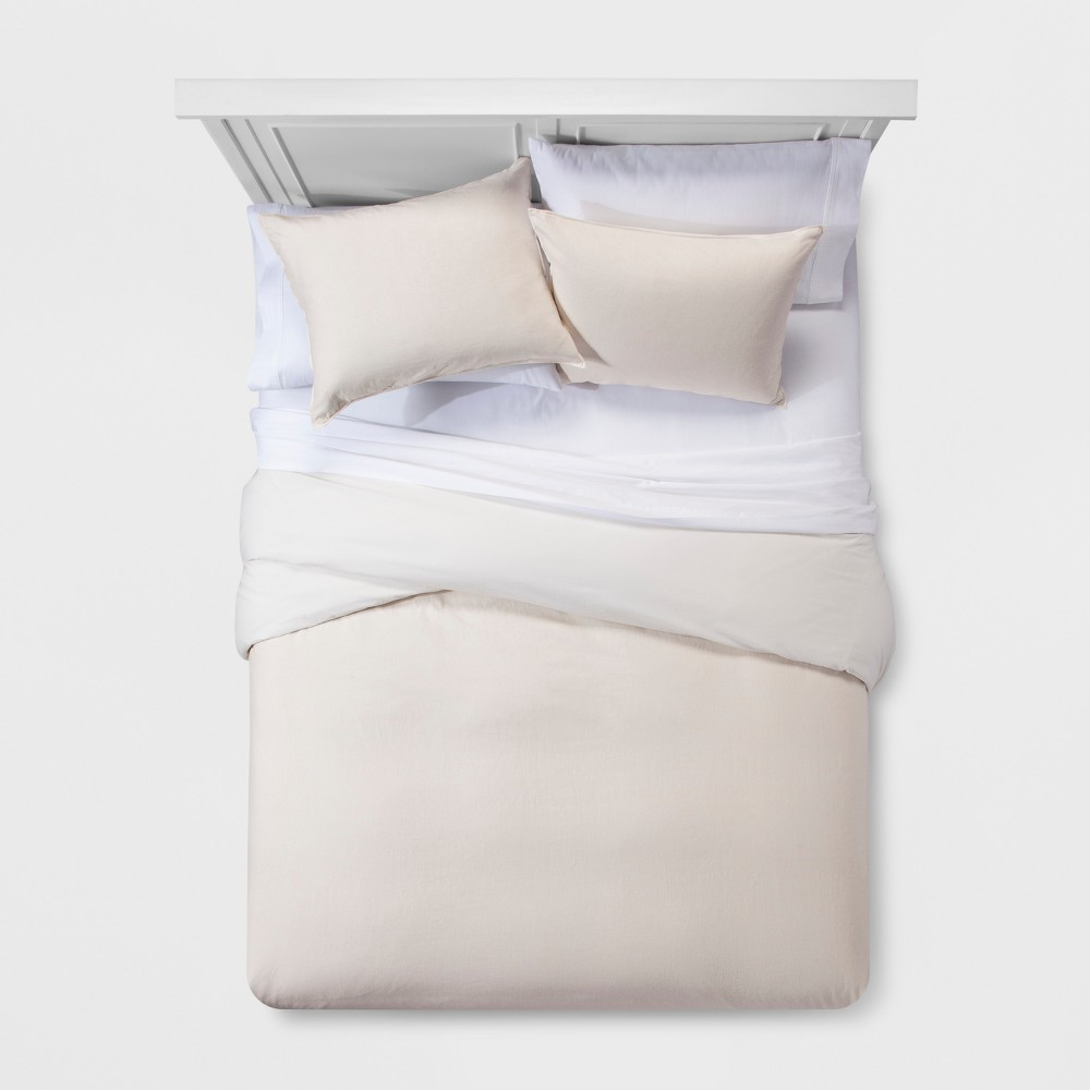 Chalk Washed Linen Blend Duvet Cover Set (King) - Project 62 + Nate Berkus was $89.99 now $44.99 (50.0% off)