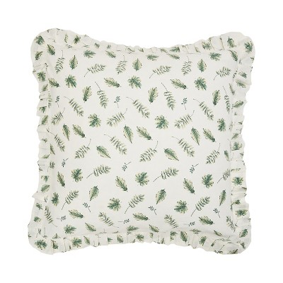 C&F Home Fern Leaves Quilted Euro Sham