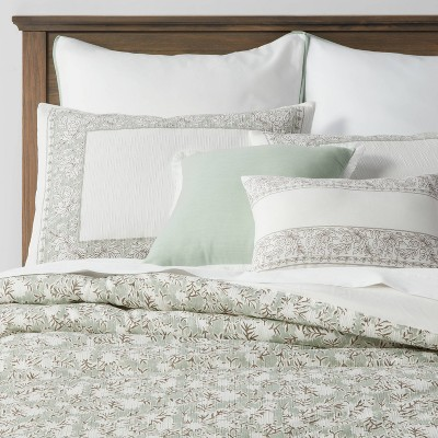 8pc Richland Floral Comforter Set Green - Threshold™