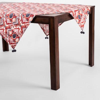 Orange Ikat Table Throw with Tassels - Opalhouse™