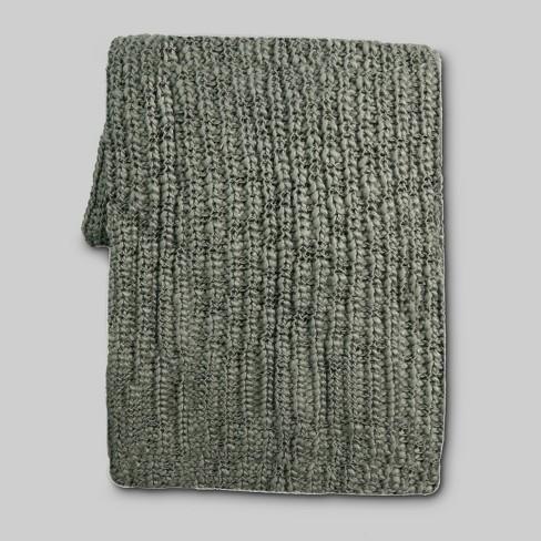 Chunky Knit Throw Blanket Threshold Target