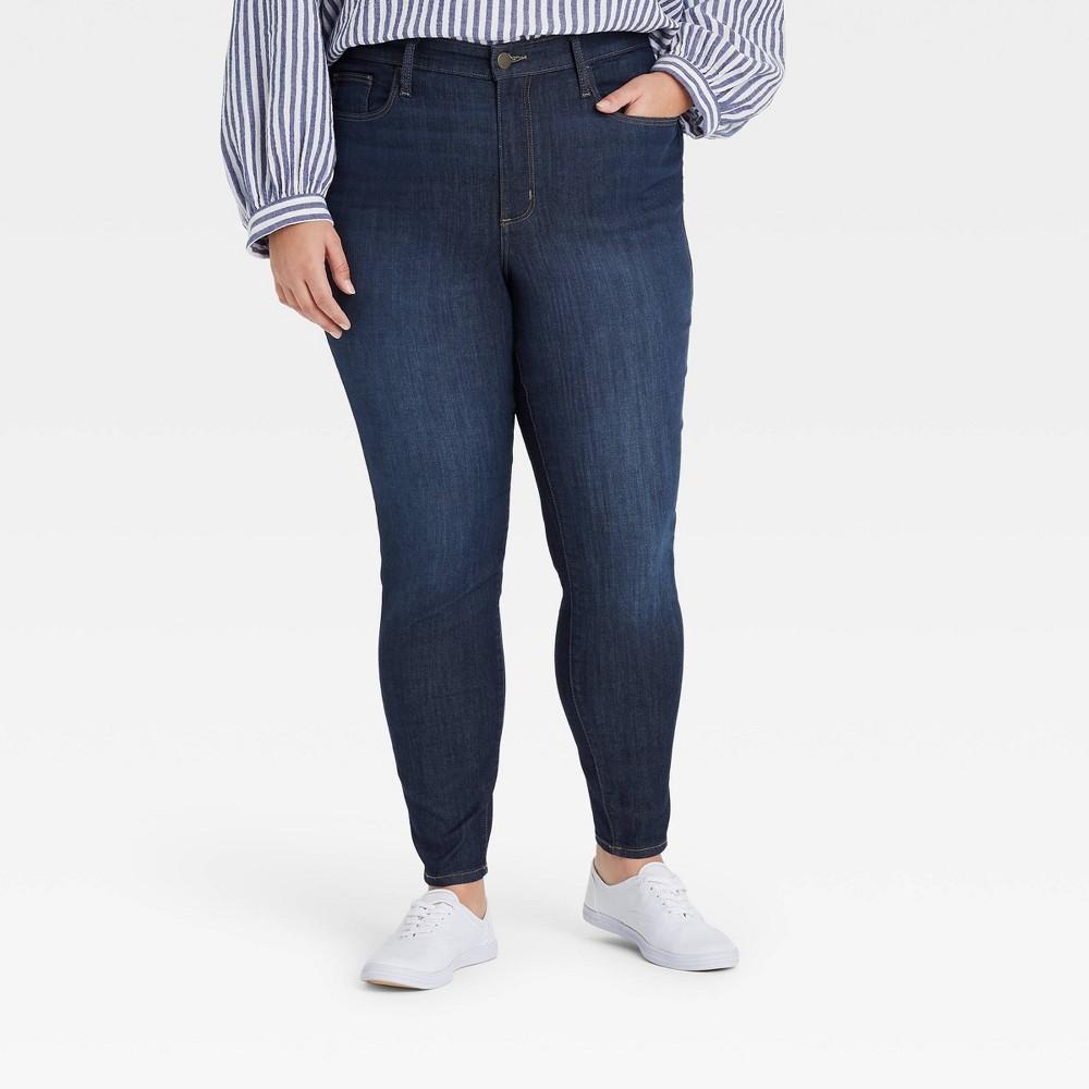 Women 39 S High Rise Skinny Jeans Universal Thread 8482 Blue Dusk 12 Short