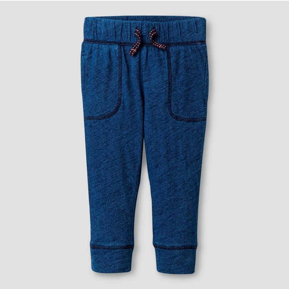 Baby Girls' Knit Jogger Pants - Cat & Jack Blue 12M