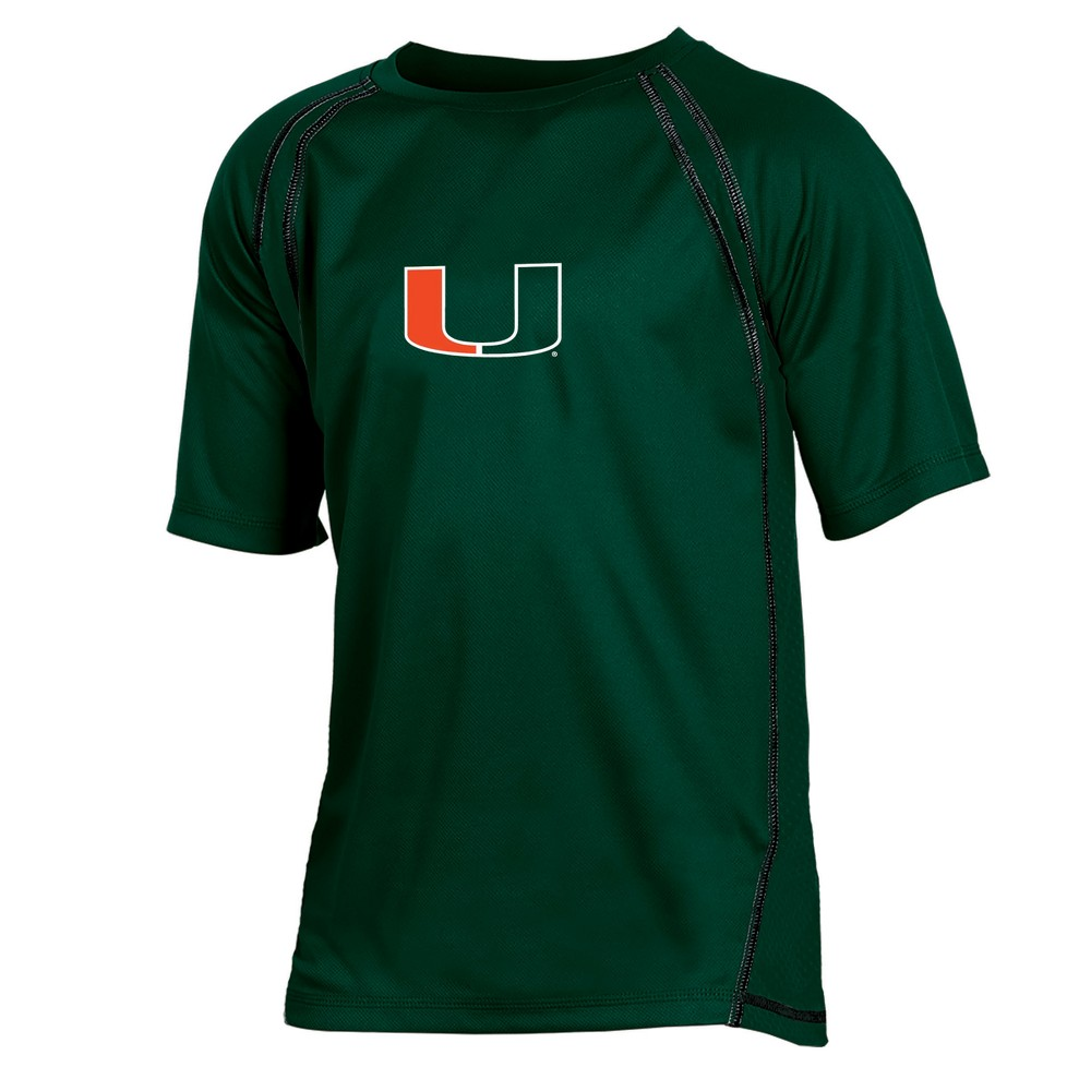 Miami Hurricanes Boys' Impact Poly Performance T-Shirt S, Multicolored