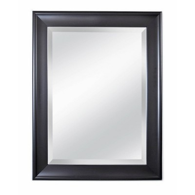 """21"""" x 27"""" Concept 2.5"""" Wide Black Framed Beveled Glass Wall Mirror - Alpine Art and Mirror"""
