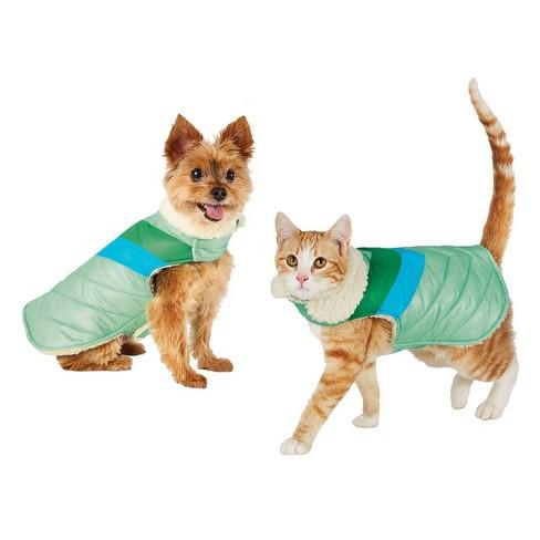 Aqua V Stripe Cat & Dog Jacket - Wondershop™ - image 1 of 1