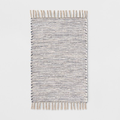 34 x20  Woven Stripe Rug Beige/Blue - Threshold™