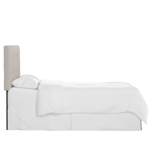 King Tufted Headboard Linen Putty - Skyline Furniture - image 1 of 4