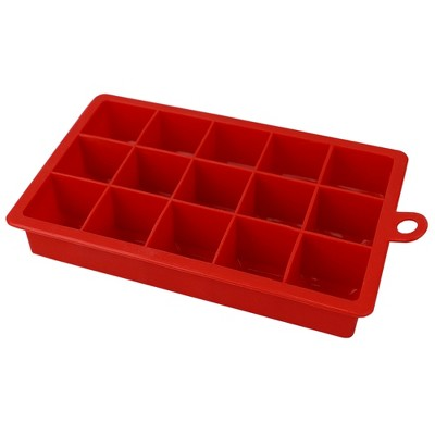 Home Basics Silicone Ice Cube Tray Red