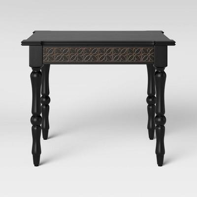 Alkanna Square Carved Wood Coffee Table Black - Opalhouse™