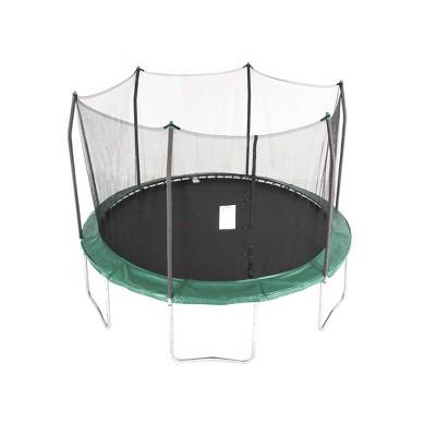 Skywalker Trampolines 12 Foot Round Outdoor Trampoline with Enclosure, Green