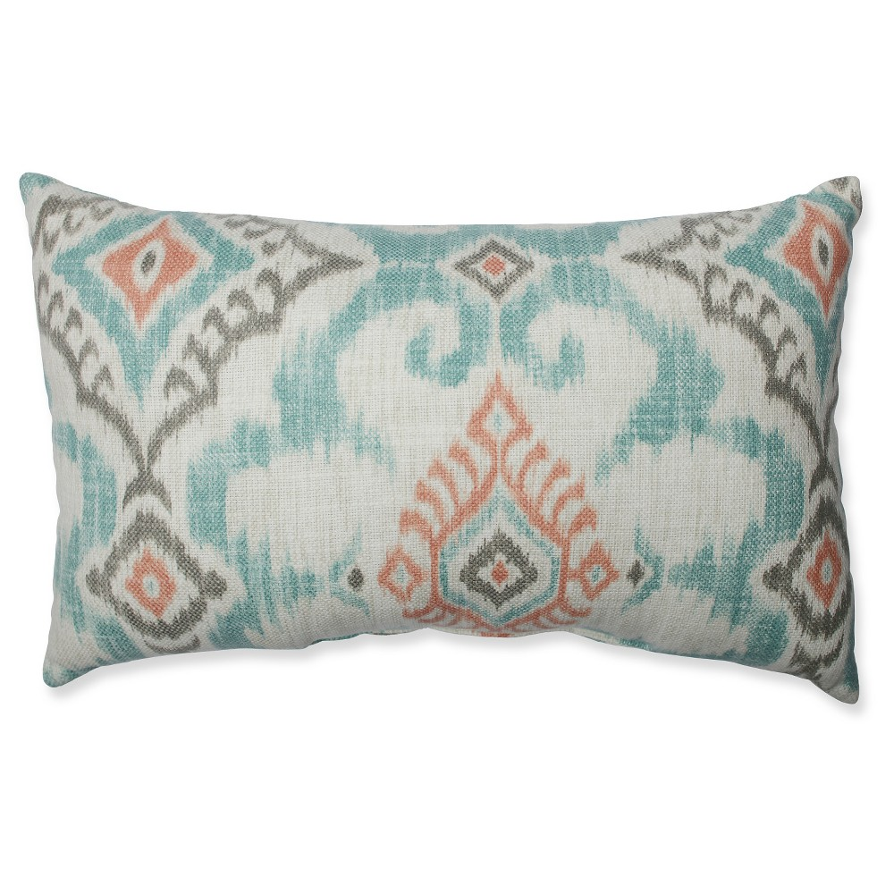 """Image of """"Gray Kantha Surf Throw Pillow (18.5x11.5"""""""") - Pillow Perfect, Size: 18.5x11.5"""""""", Green"""""""
