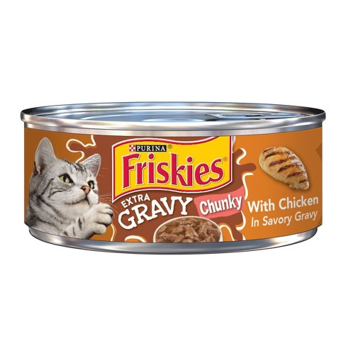 Purina Friskies Extra Gravy Chunky with Chicken Wet Cat Food - 5.5oz ea - image 1 of 3