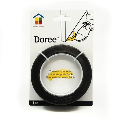 Under the Roof Decorating Door Stop Black