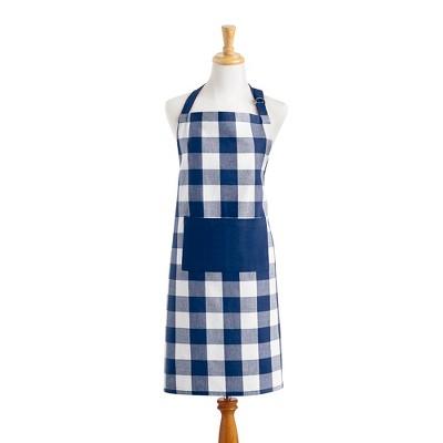 "Farmhouse Living Buffalo Check Kitchen Apron with Pocket - 28"" x 33"" - Elrene Home Fashions"