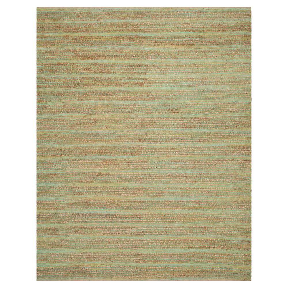 8'x10' Stripe Area Rug Green - Safavieh