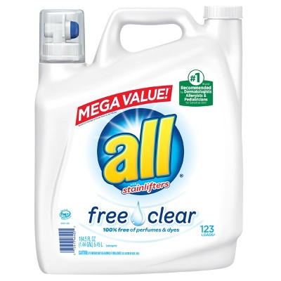 all Liquid Laundry Detergent - Free Clear for Sensitive Skin - 184.5oz