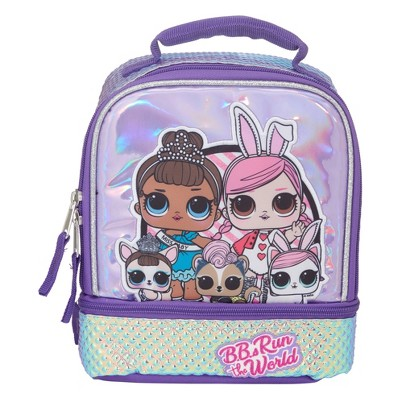L.O.L. Surprise! Glitter Kids' Dual Compartment Lunch Bag