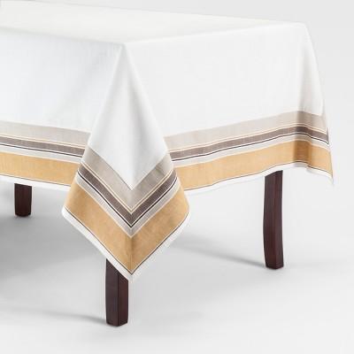 84 x60  Yellow Border Tablecloth Golden Brass - Threshold™