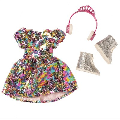 """I'M A WOW Never Enough Glitter Box for 14"""" Fashion Doll"""
