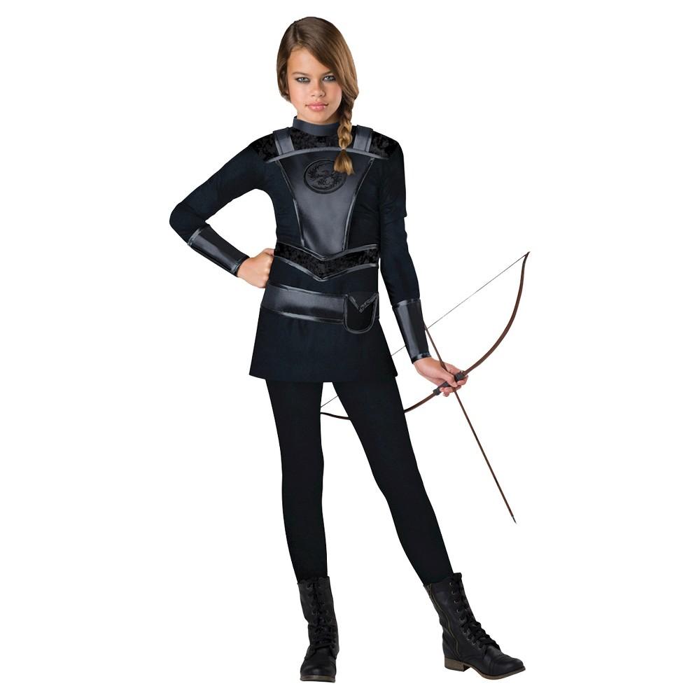 Image of Halloween Girls' Warrior Huntress Costume - L(12-14), Girl's, Size: Large(12-14), Black