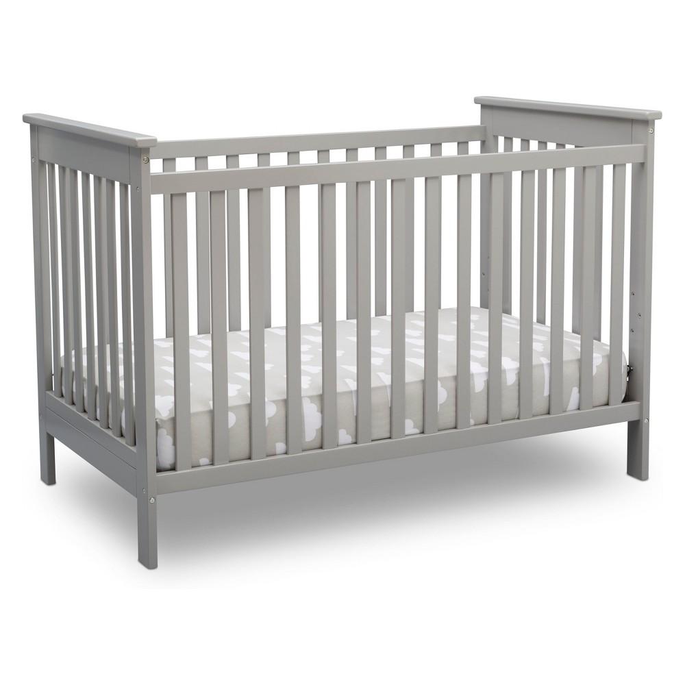 Delta Children Adley 3-in-1 Crib - Gray