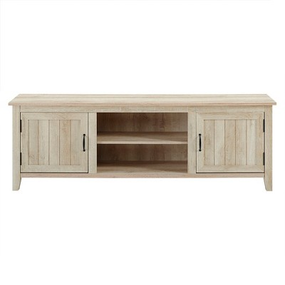 "Modern Farmhouse Wood TV Stand for TVs up to 80"" - Saracina Home"