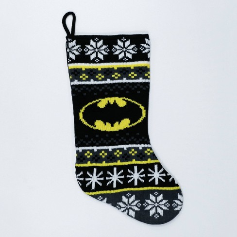 Batman Christmas.Batman Christmas Stocking Black