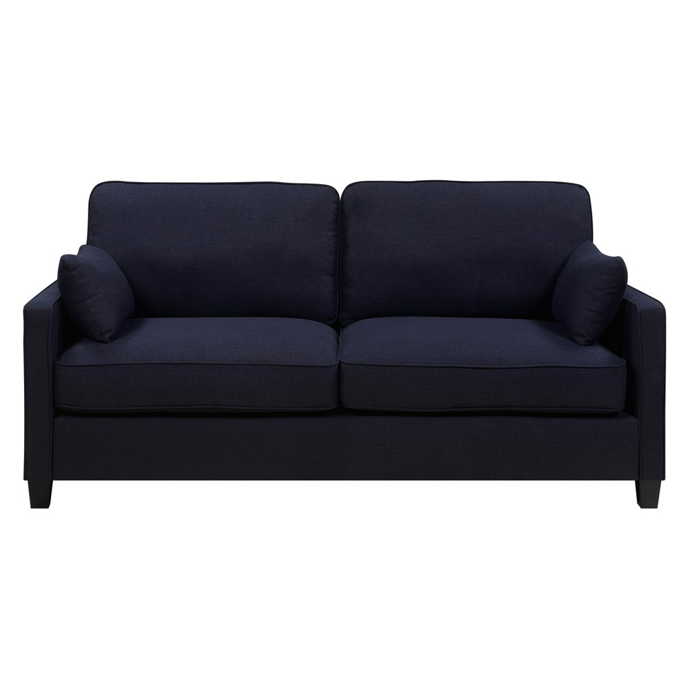 Nina Sofa Chenille Fabric Cambridge Navy (Blue) - Serta