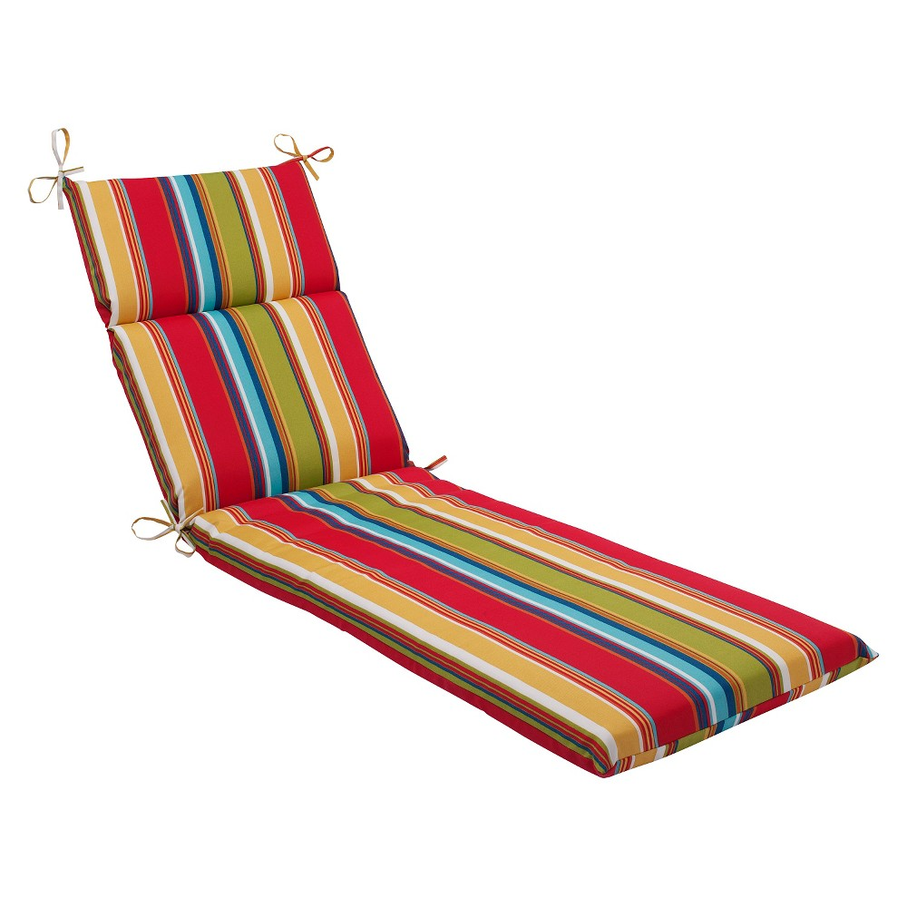 Pillow Perfect Westport Outdoor Chaise Lounge Cushion - Multicolored