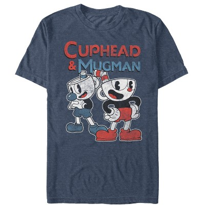 Men's Cuphead Retro Best Friend Mugman T-Shirt