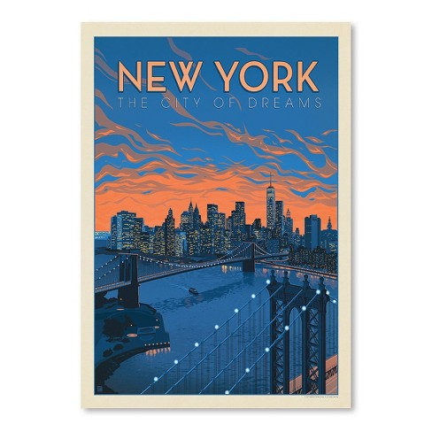 Americanflat New York City Of Dreams By Anderson Design Group Poster Target