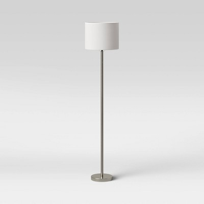 Metal Column Floor Lamp Silver (Includes LED Light Bulb)- Project 62™