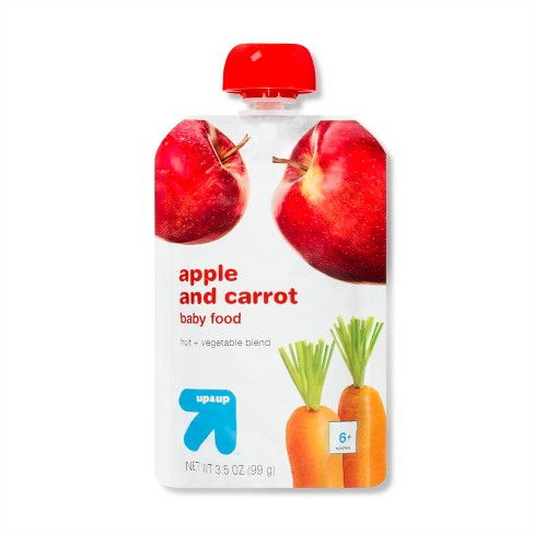 Stage 2 Apple and Carrot Baby Food Pouch - 3.5oz - up & up™ - image 1 of 1