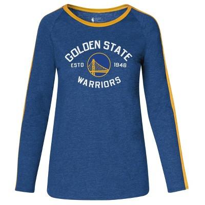 NBA Golden State Warriors Women's Team Shoulder Stripe Sweatshirt