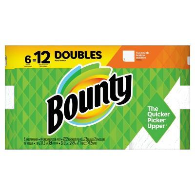 Bounty Full Sheet Paper Towels - 6 Double Rolls