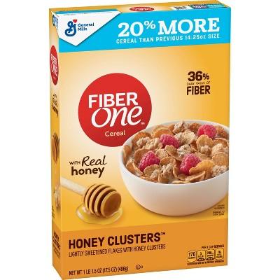 Fiber One Honey Clusters Breakfast Cereal 17.5oz - General Mills