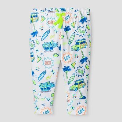 Baby Boys' Summer Icons Leggings - Cat & Jack™ White 6-9 Months