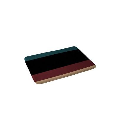 Color Poems Contemporary Color Block Memory Foam Bath Mat - Deny Designs