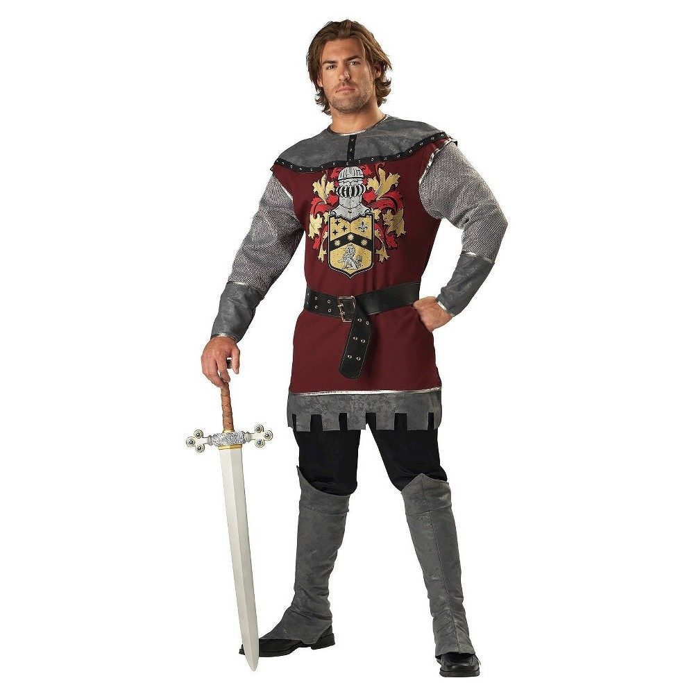 Image of Halloween Men's Noble Knight Adult Costume X-Large, Red