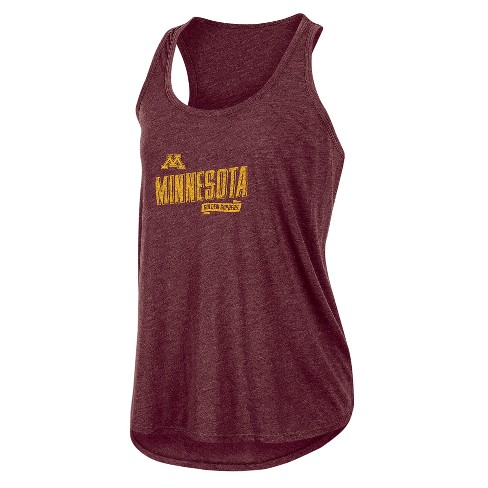 NCAA Women's Gameday Heathered Racerbank Soft Touch Poly Tank Top Minnesota Golden Gophers - image 1 of 1