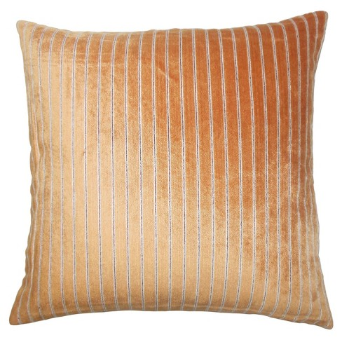 "Orange Stripe Square Throw Pillow (18""x18"") - The Pillow Collection - image 1 of 1"