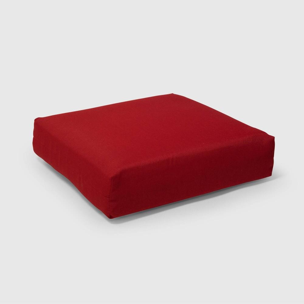Outdoor Deep Seat Cushion Red - Threshold