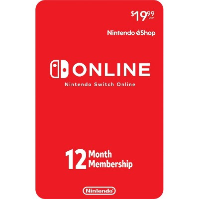 Nintendo Switch Online 12-Month Individual Membership - Nintendo Switch (Digital)