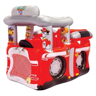 Nickelodeon PAW Patrol Fire Truck Inflatable Playland Ball Pit