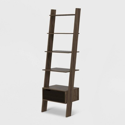 """70"""" Aster 4 Tier Leaning Bookcase Rich Oak - RST Brands"""