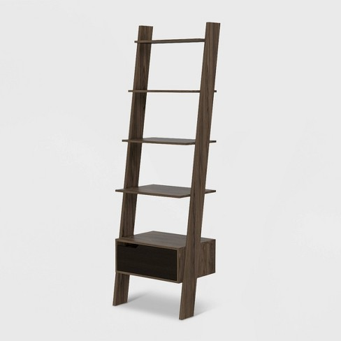 """70"""" Aster 4 Tier Leaning Bookcase Rich Oak - RST Brands - image 1 of 4"""